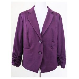 FENN WRIGHT MANSON Purple Blazer L